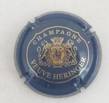 capsule champagne HERVIEUX Vve n°4 bleu foncé et or