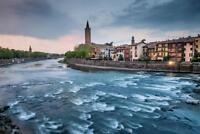 Verona Veneto Italy Cityscape Adige River Photo Art Print Poster 24x36 inch