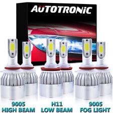 LED Headlight + Fog Light For 2009-2017 Dodge Ram 1500 2500 3500 4500 5500 6000K