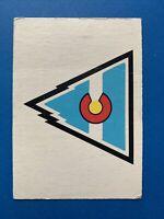 Colorado Rockies 1977-78 O-Pee-Chee Hockey Card Logo OPC Team Record Card #327