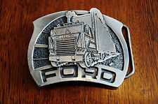 1976 Ford Tractor Trailers Great American Belt Buckle Limited Edition Made USA