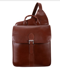 Siamod 25414 Manarola Collection Sabotino Vertical Sling Messenger Bag Cognac