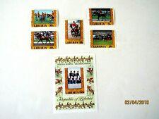 Liberia #784-87 & Airmail C216, Souvenir Sheet #C2l17, Used/VF, Equestrian Gold