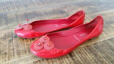 Women's Red Patent Leather SIGERSON MORRISON Ballet Flats Casual Shoes Size-9
