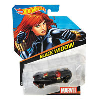 Hot Wheels Marvel Character Cars 1:64 Scale Die-Cast Vehicle: BLACK WIDOW (CGD59