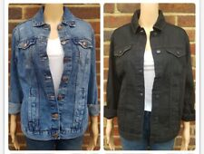 Women`s Ex-Store Oversize Denim Jacket UK Size 4 to 18 in 3 Colour Options