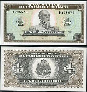 Haiti 1 gourde 1989 François-Dominique Toussaint Louverture P253 UNC