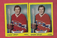 2 X 1973-74 TOPPS # 154 CANADIENS CHUCK LEFLEY ROOKIE  CARD