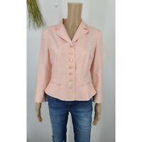Lauren Ralph Lauren Blazer Pink 100% Silk Button Up Jacket Women's 8