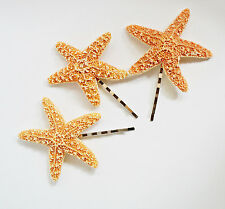 Starfish Ariel Mermaid Hair Bobby Pins Accessories Clip Nautical Hair Clip Set