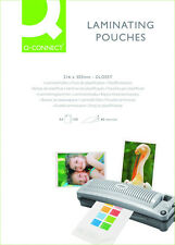 100 x A4 Laminating PLASTIFICATRICE POUCHES LAMINATO fogli kf04114