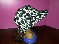 Womens Trench Hat Cream And Black New