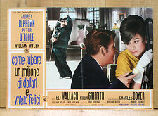 COME RUBARE UN MILIONE DI DOLLARI E VIVERE FELICI fotobusta poster Hepburn BO12