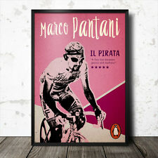 marco pantani il pirata cycling poster king of the mountains tour de france
