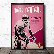 marco pantani il pirata cycling poster king of the mountains tour de france