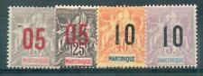 MARTINIQUE 1912 Yvert 78-81 * SATZ (F1027