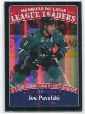 2016-17 O-Pee-Chee Rainbow Black 652 Joe Pavelski LL 96/100 League Leaders