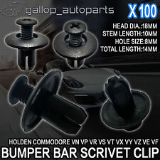 100x 8mm Bumper Bar Inner Guard Radiator Cowl Air Box Scrivet Clip For Holden