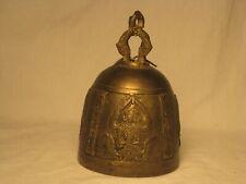 "vintage 5"" brass bell Hindu Indian Gods Deity Deities detail temple monastery"