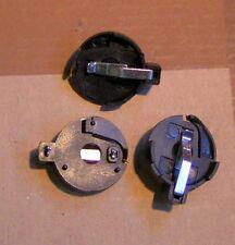 3 Rund Knopf Batterie Halter Taschen #01 für  CR2032 CR2025