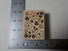 FLOWER PATCH WOOD MOUNTED RUBBER STAMPS NEW A1736