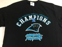 Carolina Panthers T-Shirt Adult SZ M/L 2003 Conference Champions NFL Football
