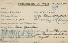 PRIGIONIERI POW CAMP 313 TRIPOLI LIBIA 1943 AUGUSTA CASUALTIES & APPENDIX