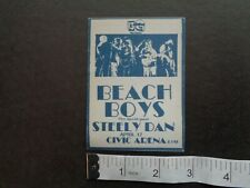 Beach Boys,Steely Dan,Original 1974 Backstage pass,Apr 17th,Civic Arena,Pgh