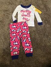 NWT Children's Place Panda Bear Pink Purple Cotton Pajama Size 9-12 Months