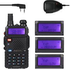 Baofeng UV-5RTP 136-174/400-520 MHz 1/4/8W Ham Two-Way Radio + Speaker Mic.