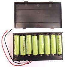 12 Volt Power Supply Box 8x AA Batería 1.5v Soporte/Funda + interruptor de encendido/apagado 12v