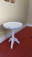 Dolls House Miniatures 1/12 scale White Wooden Drinks Table DF1187W