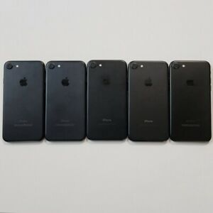 Lot of 5 Apple iPhone 7 32gb Mixed Black