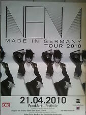 NENA    2010  FRANKFURT    orig. Concert - Poster  118 x 84 cm SONDERGRÖSSE