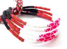 Lot 5 Bracelets Bresiliens de l'Amitié Macramé coton Friendship noir blanc rose