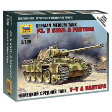 Zvezda 6196 WWII Panther Tank Ausf A  1:100 Snap Fit Military Model Kit