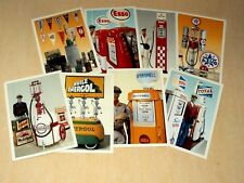 Lot 8 Carte Postale Station Service Garage Pompe Essence Huile Bidon Auto 2