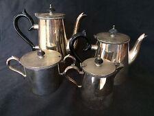 VINTAGE HECWORTH EPNS COFFEE & TEA SERVICE w/ BAKELITE HANDLES & FINIALS
