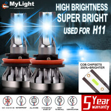 2x 8000K Ice Blue H11 H8 H9 2000W LED Fog Light Headlight Bulb For Replacement