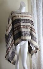 Funky vtg longhair Mohair Art-Wear Icelandic Nordic Poncho Sweater O/S S M L XL