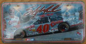 Sterling Marlin #40 NASCAR Coors Light Racing License Plate NOS Sealed
