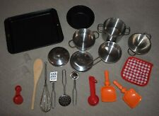 20pc Children Kids Kitchen Utensils Pots Pans Play Toys Dishes Cook Cooking set