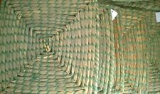 12 psc x Green/Natural Grass  Square Place mats ECO Friendly