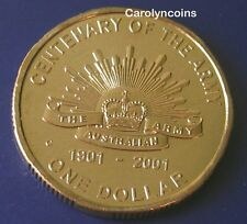 $1 Coin 2001 Centenary of the Australian Army One Dollar C Canberra Mintmark