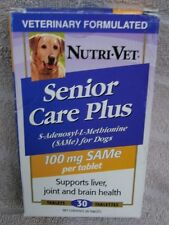 Nutri Vet Senior Care Plus For Liver, Joint & Brain Health 30ct. ~  CLEARANCE