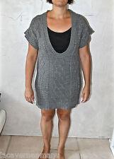 luxueuse dress robe pull angora, lurex et laine SANDRO taile 1 (38-40)