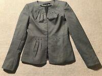 Anne Klein Suit Women's Dressy Wool Blend Blazer Jacket Padded Shoulder Sz 0 #E8