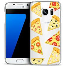Coque Crystal Pour Galaxy S7 Extra Fine Rigide Foodie Pizza