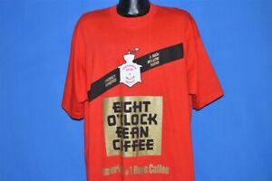 vtg 90s EIGHT O' CLOCK BEAN COFFEE AMERICANS #1 BEAN COFFEE BAG t-shirt XXL
