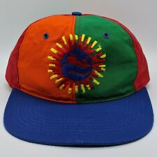 vtg SEA WORLD Shamu Logo Hat Multi Color Block Snapback Cap Made In USA RARE